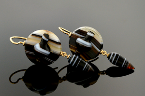 striped agate earrings